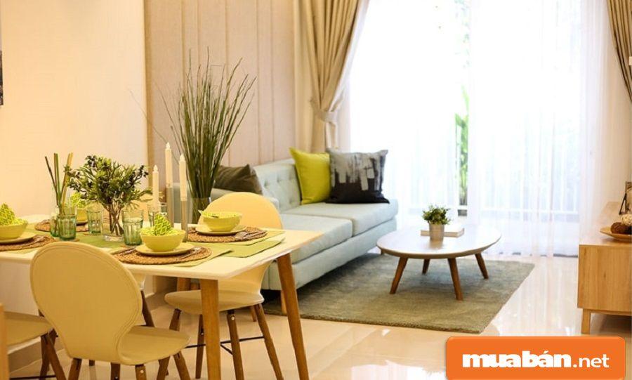 Các căn hộ trong dự án đều được thiết kế mở giúp không gian thông thoáng hơn.