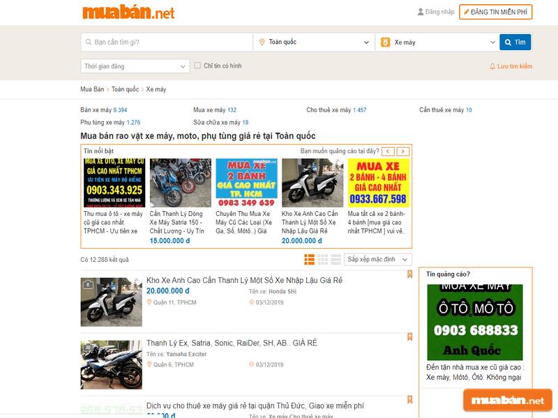 Đến với Muaban.net để có được những chiếc Nouvo 3 chất lượng nhất