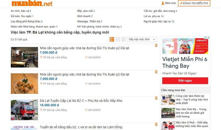 Các thông tin tuyển dụng trên muaban.net được cập nhật thường xuyên.