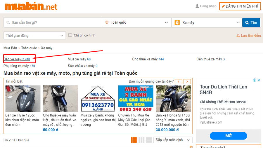 Hãy ghé ngay muaban.net nếu bạn muốn rinh một chiếc xe máy cũ còn zin giá tốt đi chơi Tết.