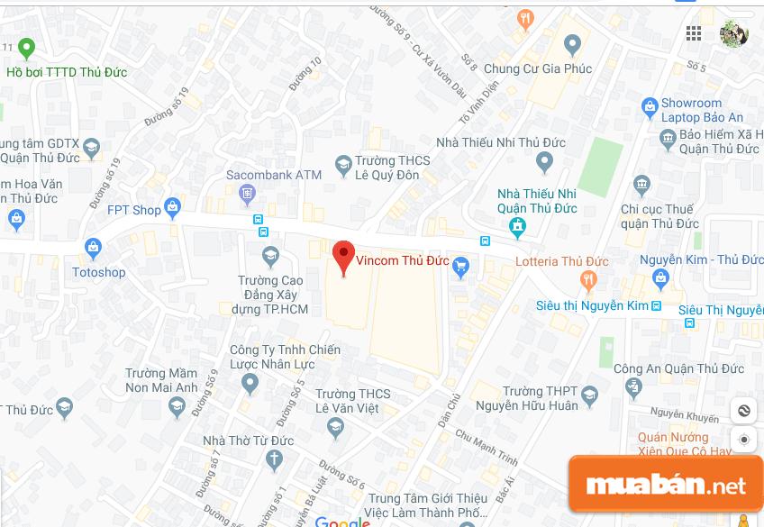 TTTM Vincom Thủ Đức tọa lạc tại số 216 Võ Văn Ngân, Phường Bình Thọ, Quận Thủ Đức,