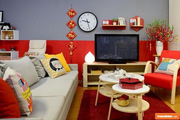 cách trang trí phòng khách 01
