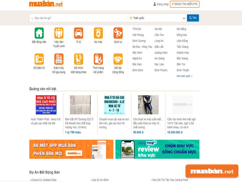 Những kênh rao vặt như Muaban.net là lựa chọn tuyệt vời cho người tìm việc