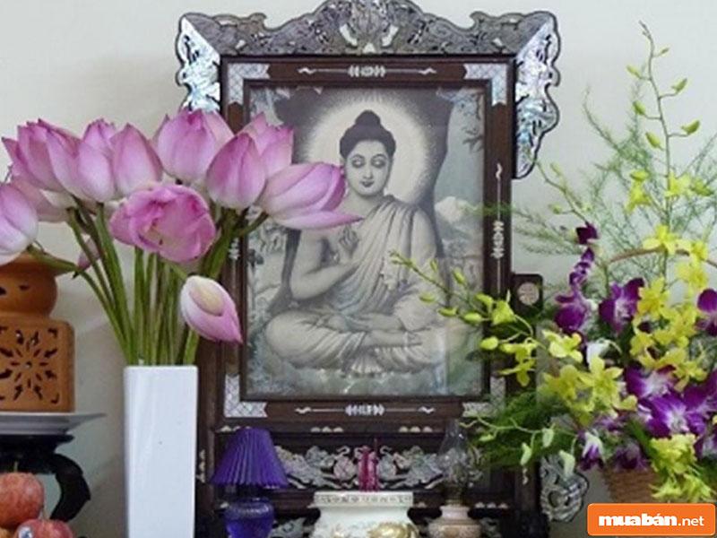 hoa đặt bàn thờ 017