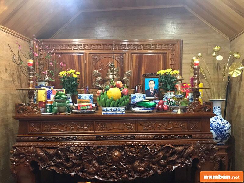 hoa đặt bàn thờ 02
