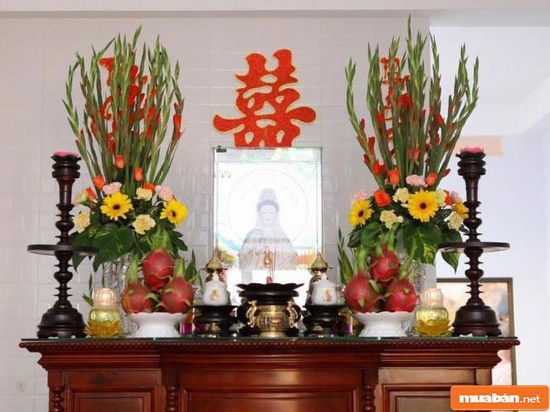 hoa đặt bàn thờ 09