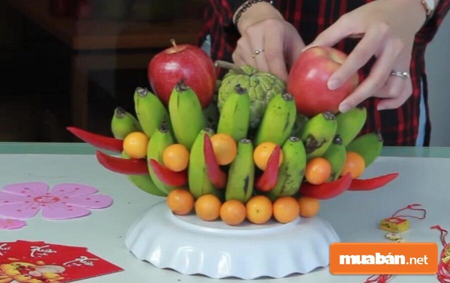 Cách bày trí những trái cây cúng 3 ngày tết của người miền Nam cũng vô cùng đơn giản.