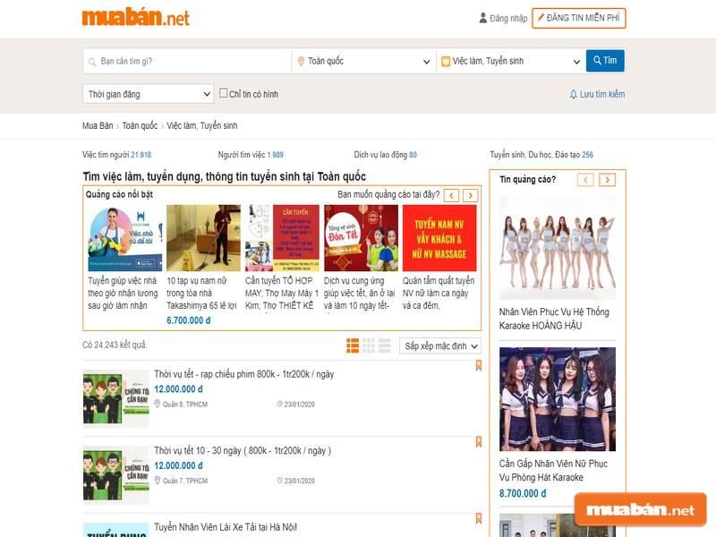 Muaban.net là lựa chọn tuyệt vời cho bạn khi tìm việc