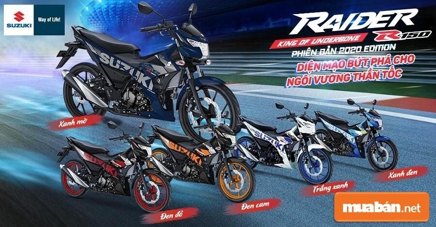 Xe Raider 2020 Thiết Kế Thể Thao, Giá Bán Tốt