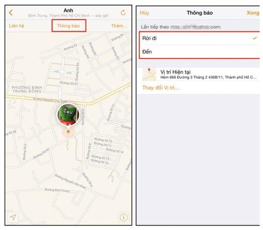 Kích hoạt tính năng chia sẻ vị trí trên điện thoại mà bạn cần theo dõi