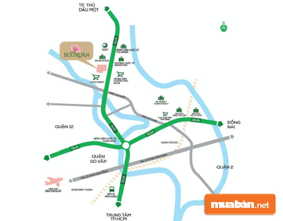 Dự án chỉ cách Sài Gòn chừng 16 km về phía Bắc