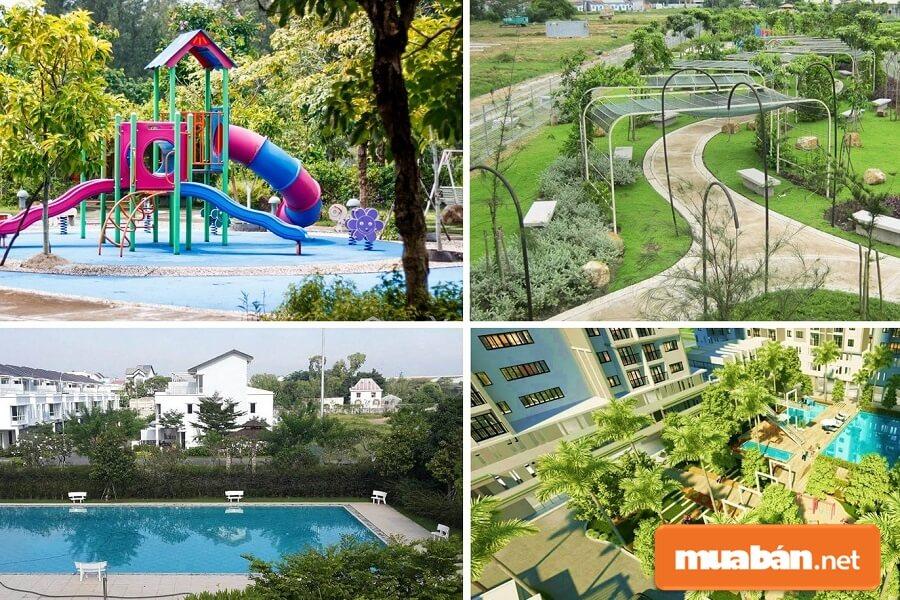 Hệ thống các tiện ích nội và ngoại khu tại Eco Xuân cực kì đa dạng và phong phú.