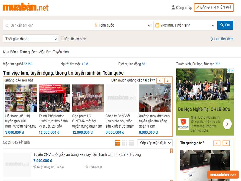 Đến với Muaban.net để tìm việc dễ dàng hơn nhé!