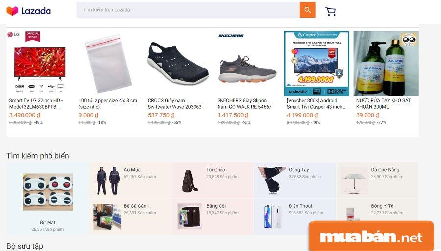 Bạn hãy tận dụng các sàn thương mại điện tử để đăng ký bán hàng.