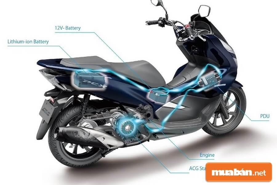 Honda PCX Hybrid vẫn mang những đường nét đặc thù của phiên bản máy xăng kèm thêm nhiều chi tiết mới làm nên sự khác biệt.