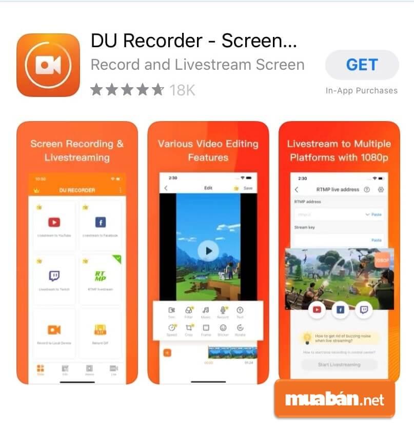 Cách quay màn hình với DU Recorder