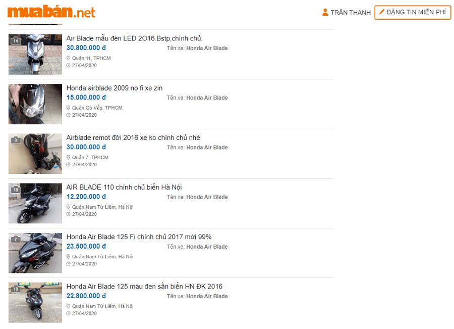 Chợ xe máy cũ trên muaban.net vô cùng đa dạng. Bạn có thể chọn rất nhiều thương hiệu xe máy cũ chứ không riêng gì xe máy cũ Honda.