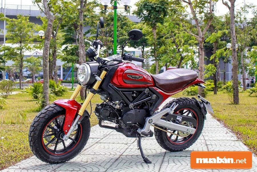 Một chiếc xe moto mini giá rẻ đang khá được yêu thích tại Việt Nam hiện nay nữa đó là Hunter 110 Mini.
