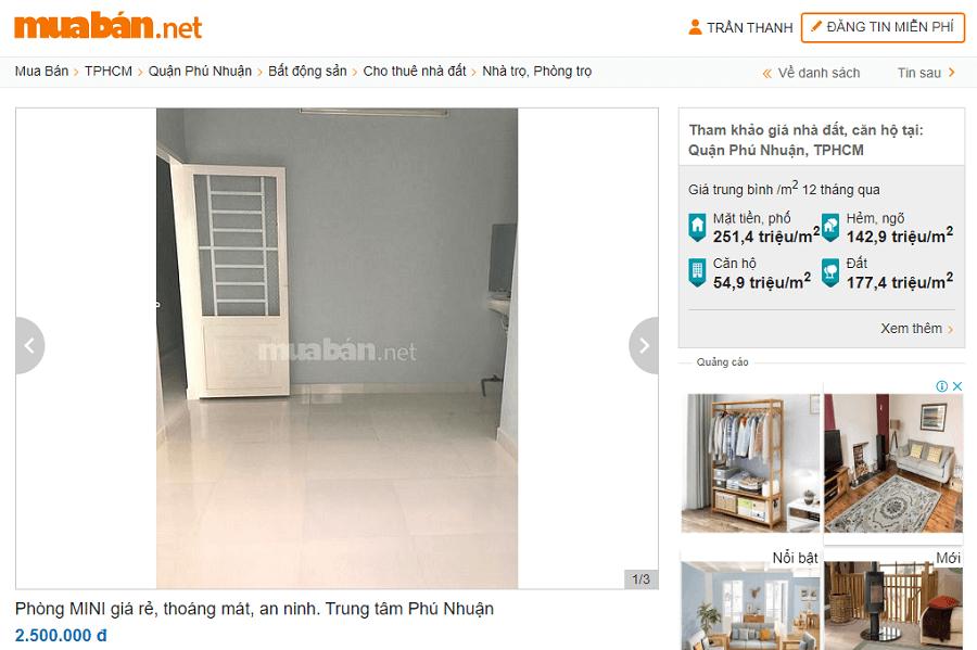 Phòng trọ MINI giá rẻ, thoáng mát, an ninh. Trung tâm quận Phú Nhuận