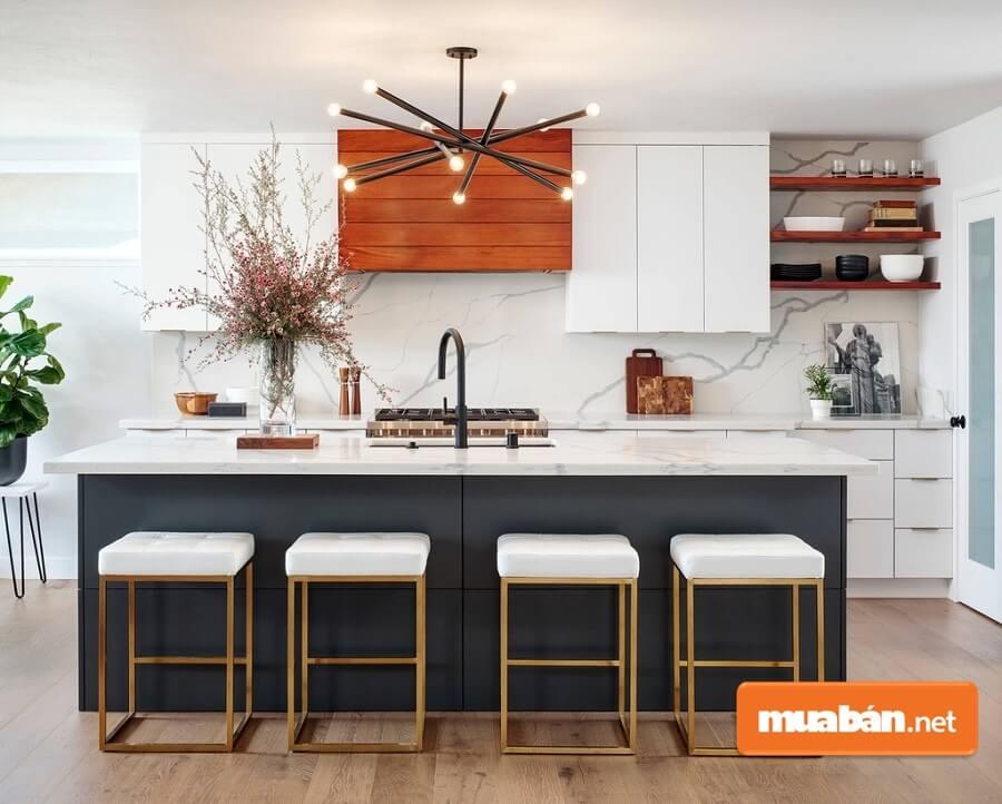 Mẫu phòng bếp đẹp, hiện đại theo phong cách tối giản
