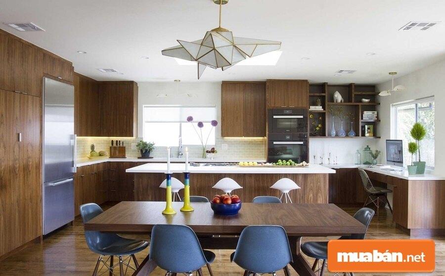 Nhà bếp hiện đại cho không gian hẹp