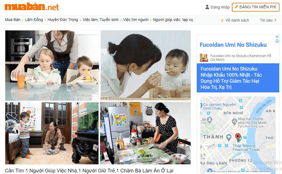 Cần Tìm 1 Người Giúp Việc Nhà, 1 Người Giữ Trẻ, 1 Chăm Bà Làm Ăn Ở Lại