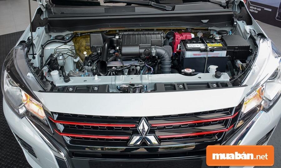 Trái tim của xe là khối động cơ 1.2L MIVEC. Sản sinh công suất tối đa 77 mã lực tại vòng tua máy 6.000 vòng/phút.