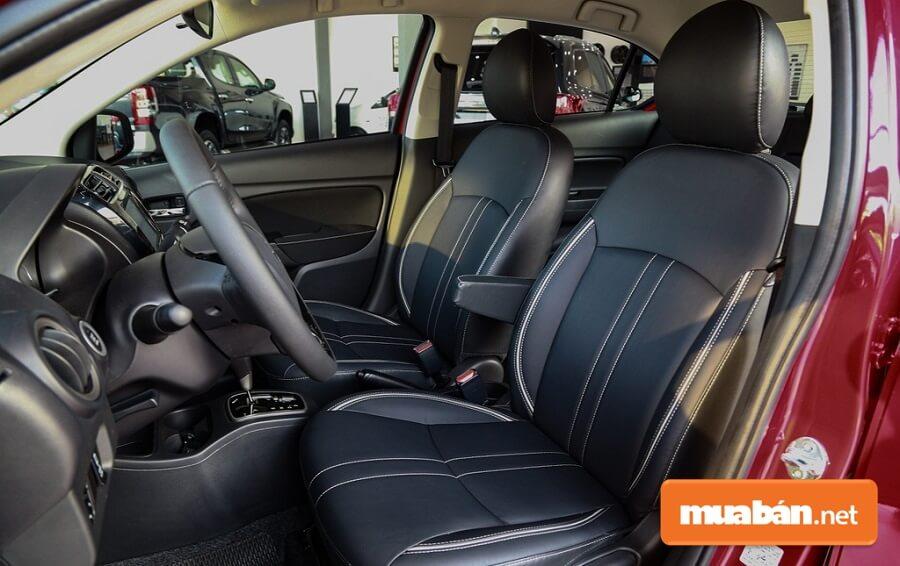 Mitsubishi Attrage 2020 có chiều dài khoang nội thất lên đến 2.002 mm.