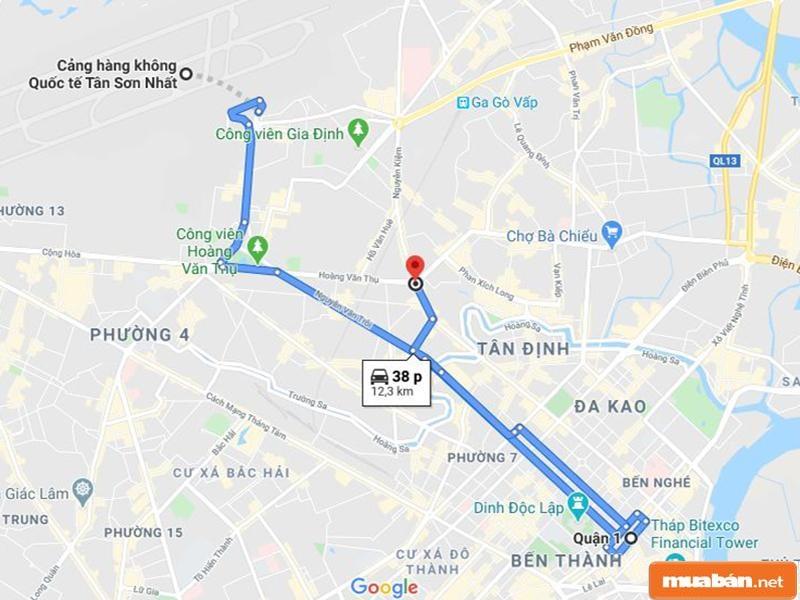 Từ Phú Nhuận, bạn có thể di chuyển sang nhiều quận huyện khác nhanh chóng