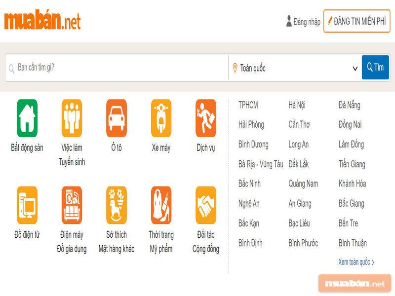 Muaban.net là kênh dành cho mọi người khi tìm mua nhà