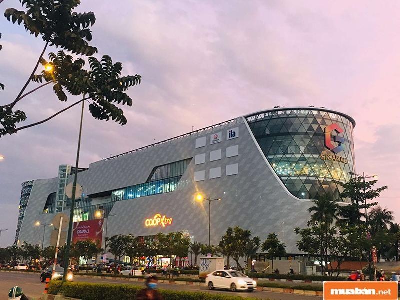 Trung tâm thương mại Gigamall và vẻ đẹp lúc hoàng hôn
