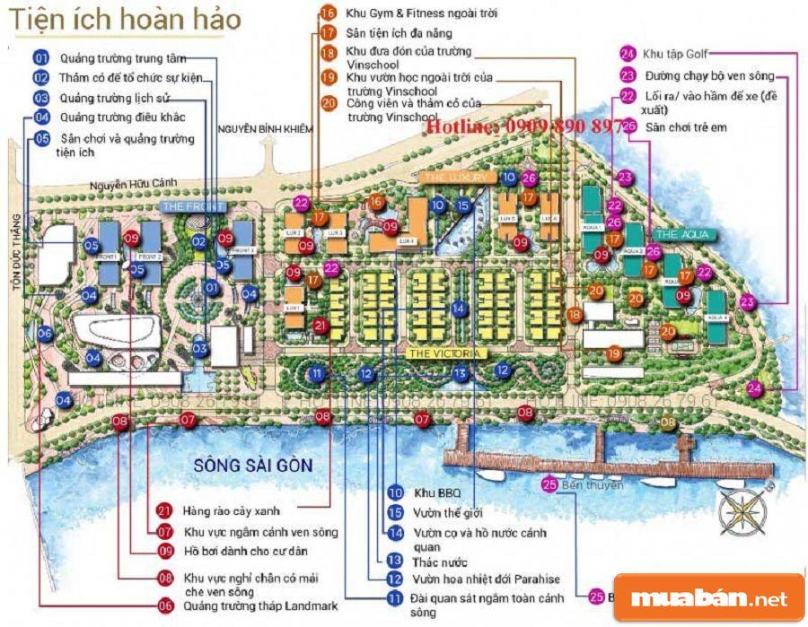 Dự án này là tổ hợp của khu dân cư cao cấp với nhiều tiện ích nội khu hấp dẫn.
