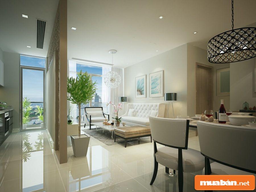 Diện tích các căn hộ trong dự án dao động từ 48m2 đến 160m2.