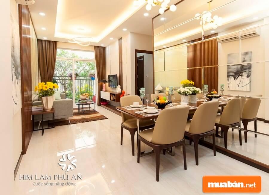 Căn hộ cao cấp Him Lam Quận 9 mang đến môi trường sống trong lành, tiện ích đầy đủ và cao cấp cho cư dân.