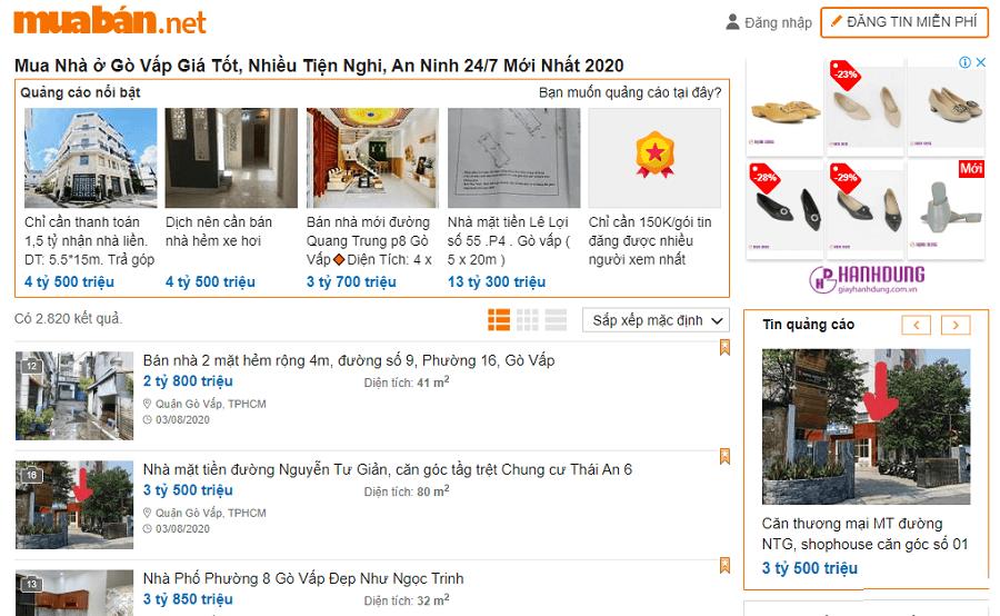 Muaban.net - địa chỉ để bạn tìm tin mua bán nhà đất tại quận Gò Vấp TPHCM nhanh chóng, uy tín.