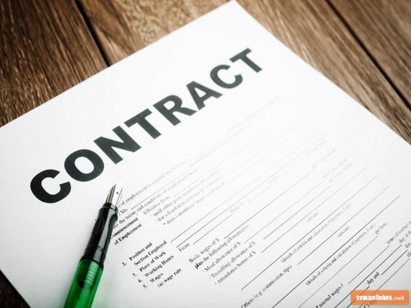 Điều đầu tiên bạn cần làm là lập hợp đồng