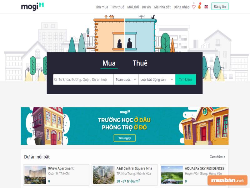 Mogi cũng là một lựa chọn tốt với những mẫu quảng cáo bán đất được nhiều người lựa chọn