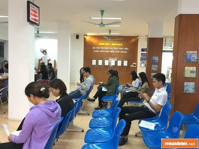 Phòng chờ Trung tâm dịch vụ việc làm