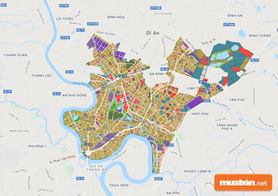 Bản đồ quy hoạch quận Thủ Đức mới và chính xác nhất