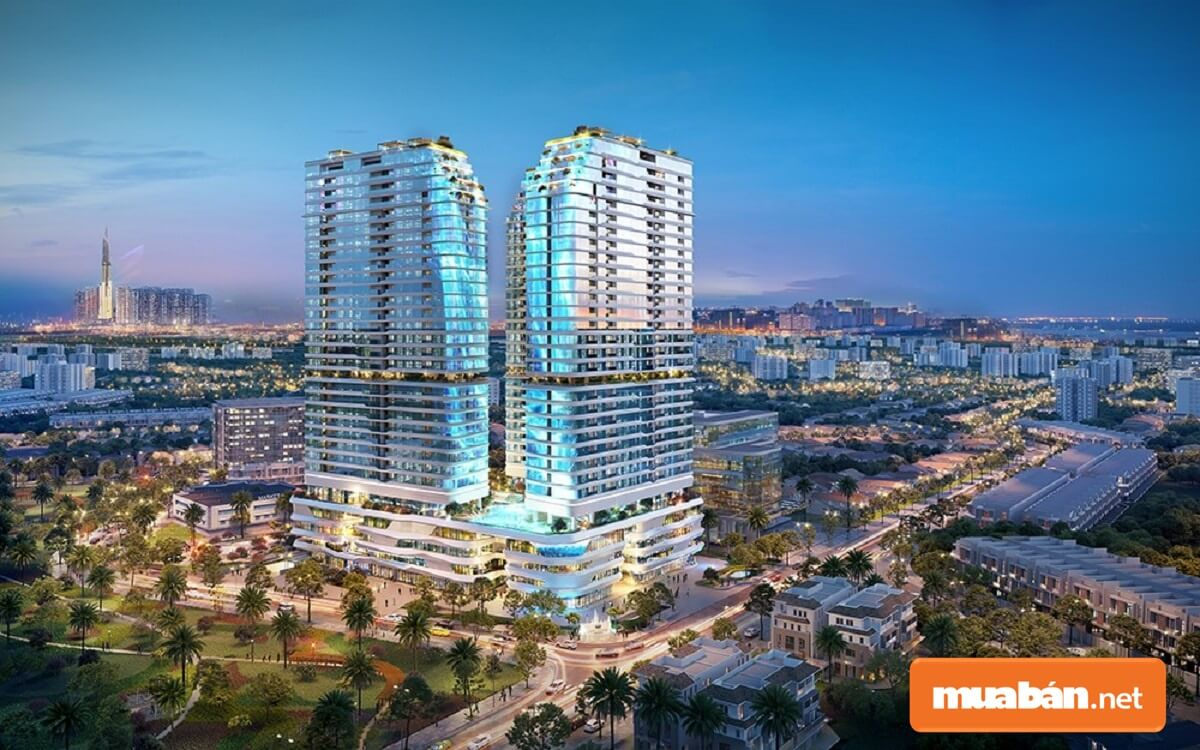 King Crown Infinity - khu phức hợp căn hộ và thương mại cao cấp với tòa tháp đôi cao 30 tầng