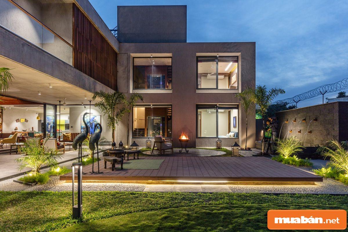 Không gian xanh là yếu tố quan trọng trong các mẫu thiết kế biệt thự.