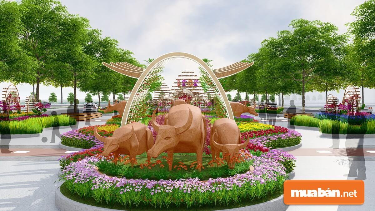 Chủ đề đường hoa Nguyễn Huệ thay đổi qua các năm