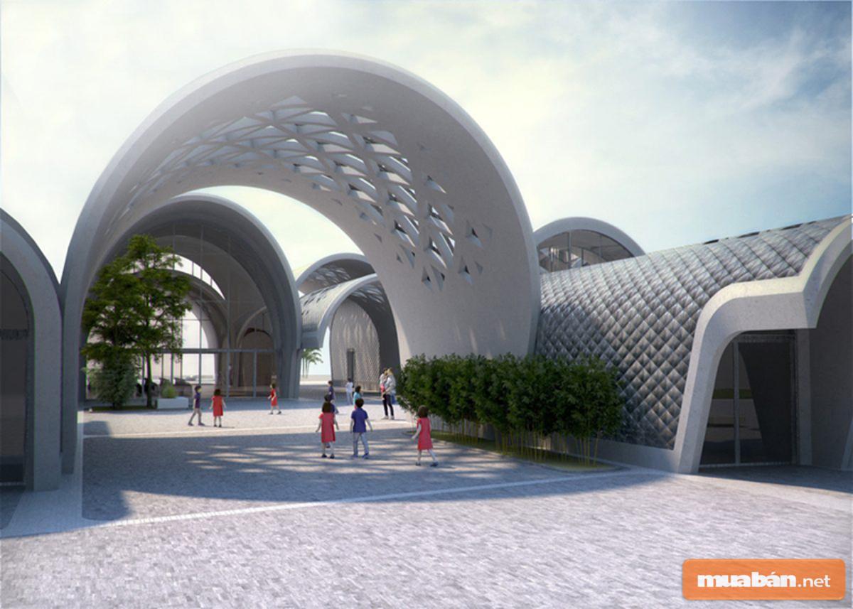 Chất liệu bê tông cốt thép đã trở nên mềm mại hơn nhờ sự khéo léo của kiến trúc sư