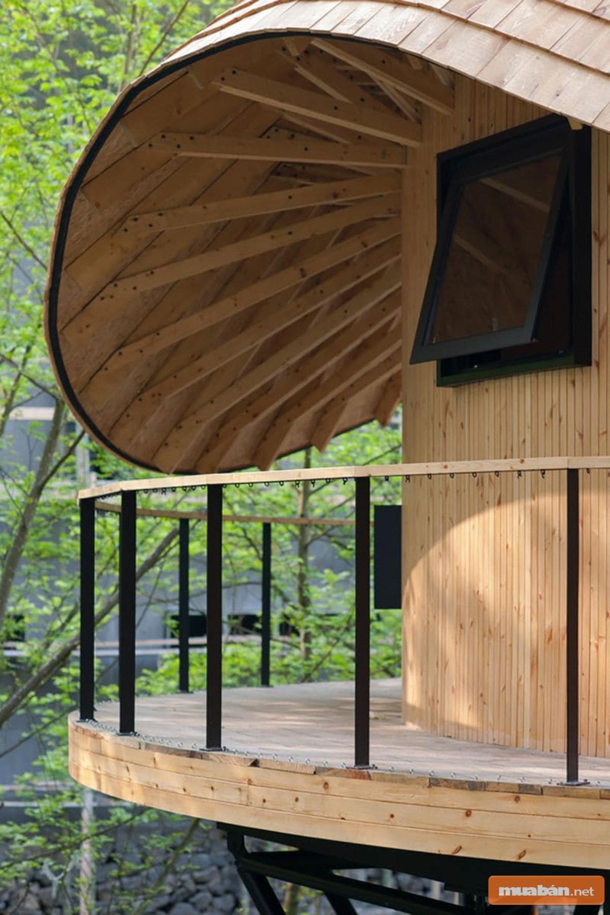 Mái vòm gỗ ấn tượng