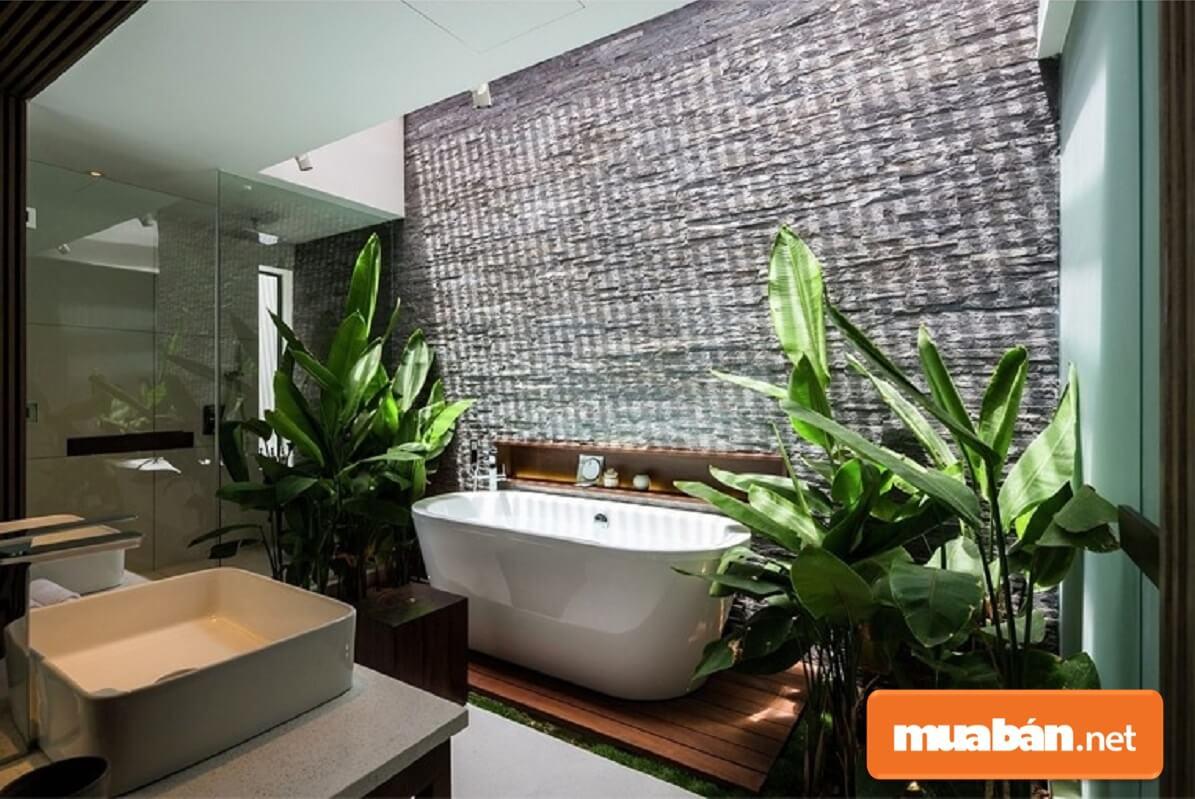 Mang cả thiên nhiên vào phòng tắm nhà bạn với mẫu nhà tắm đẹp 3.