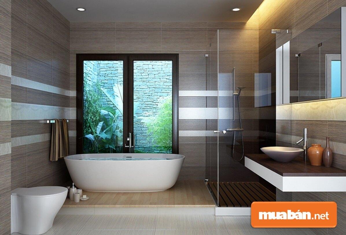 Phòng tắm là nơi dễ tạo ra cảm hứng vui vẻ và giúp cải thiện tâm trạng một cách kỳ diệu.