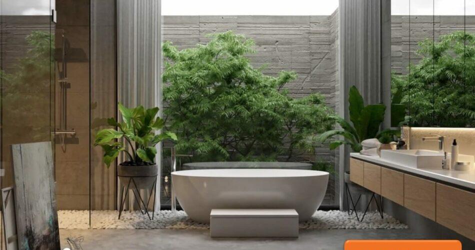 Gợi ý thiết kế phòng tắm đẹp sang trọng đón Tết