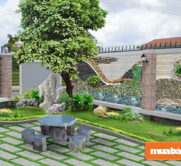 Thiết kế tiểu cảnh sân vườn đón Tết đẹp, hợp phong thủy