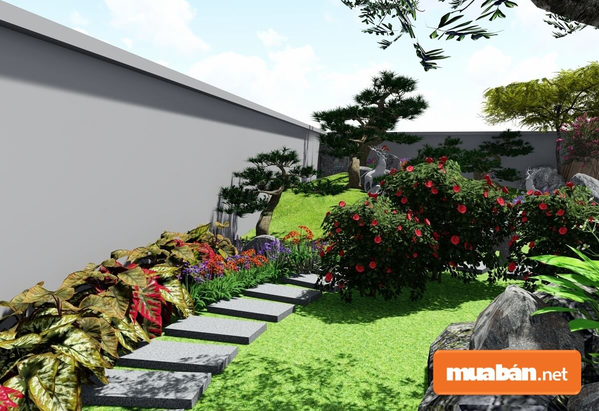 Một khu vườn không thể hoàn hảo nếu như không có bất cứ một lối đi nào.