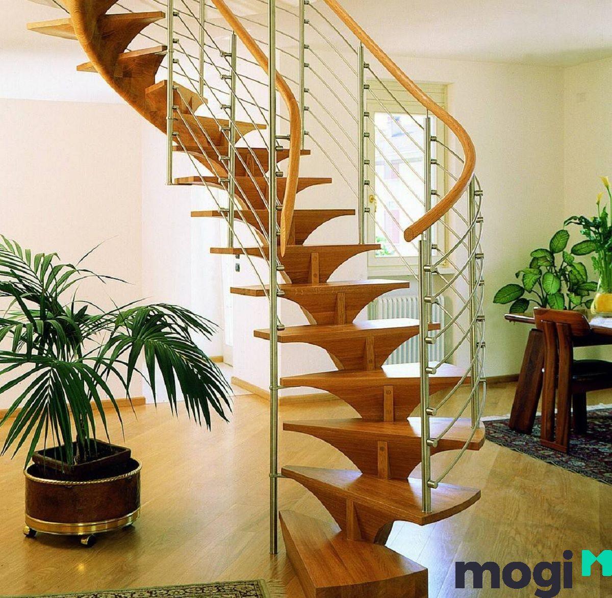 Nếu bạn chọn cầu thang từ chất liệu này, nó sẽ tạo điểm nhấn cho không gian nhà của bạn.